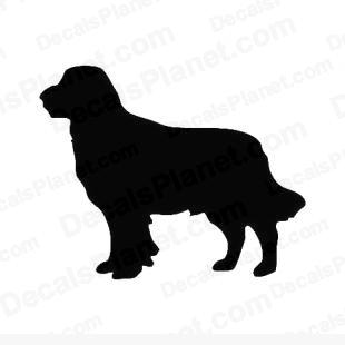 Bernese mountain dog listed in animals decals.