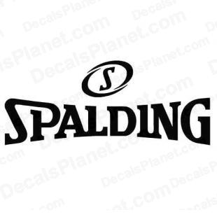 Spalding logo listed in sports brands decals.