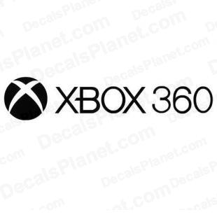 XBOX 360 full logo listed in video games decals.