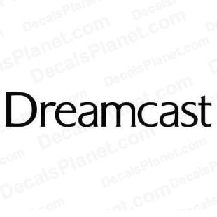 Dreamcast text logo listed in video games decals.