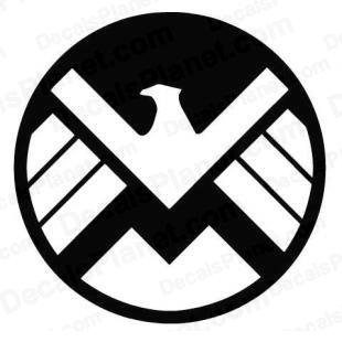Marvel S.H.I.E.L.D. (SHIELD) listed in cartoons decals.