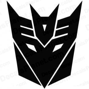 Transformers Decepticon (modern logo) listed in cartoons decals.