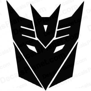 Transformers Decepticon (rugged modern logo) listed in cartoons decals.