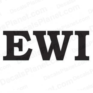 EWI custom logo (akai font) listed in other decals.