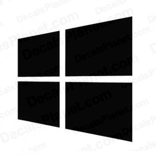 Windows 8 logo listed in computer decals.