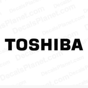 Toshiba logo listed in computer decals.