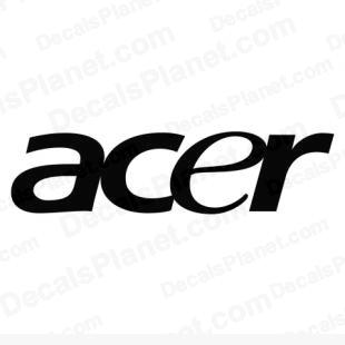 Acer logo listed in computer decals.
