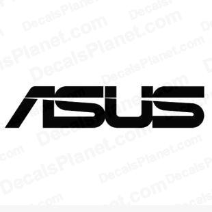 Asus logo listed in computer decals.