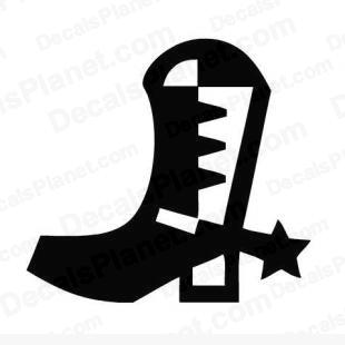 Cowboy boot listed in other decals.