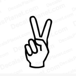 Peace hand sign listed in other decals.
