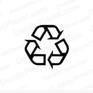 Recycling logo (recycle) listed in other decals.