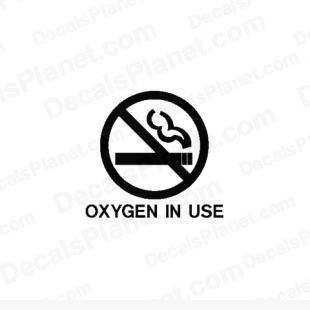 Oxygen in use listed in funny decals.