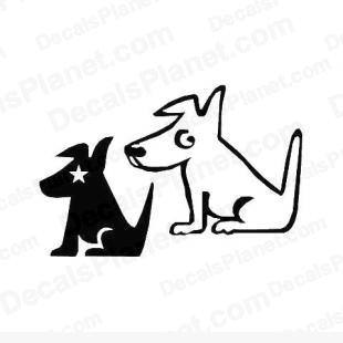 Sirius radio dogs listed in popular logos decals.