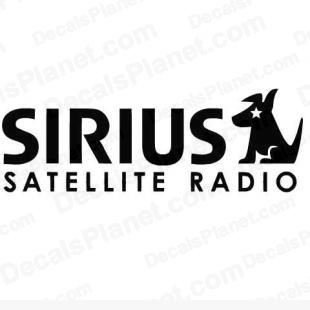 Sirius satellite radio logo listed in popular logos decals.