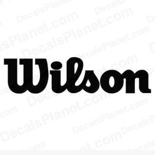 Wilson simple logo listed in sports brands decals.