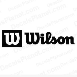 Wilson complete logo listed in sports brands decals.