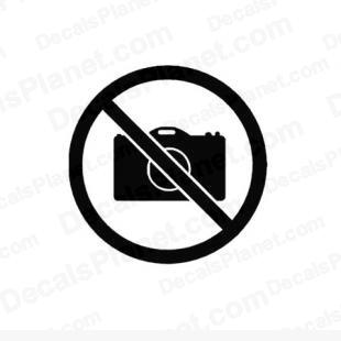 No digital camera allowed sign listed in useful signs decals.