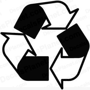Recycle symbol/sign listed in useful signs decals.