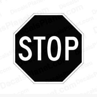 Stop sign listed in useful signs decals.