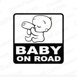 Baby on road sign listed in useful signs decals.