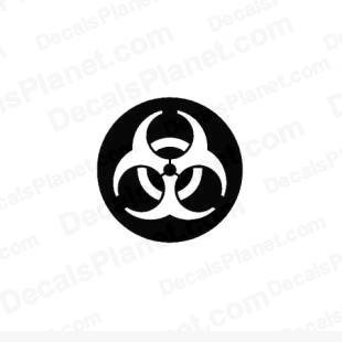 Biohazard symbol/sign listed in useful signs decals.
