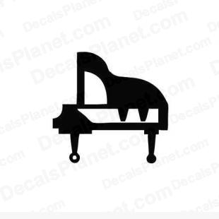 Piano simple listed in music and bands decals.