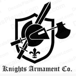 KAC full logo (Knight's Armament Company) listed in firearm companies decals.