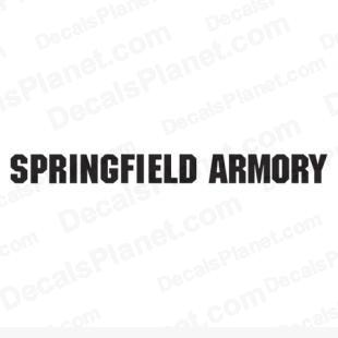 Springfield Armory logo listed in firearm companies decals.