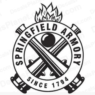 Springfield Armory older logo listed in firearm companies decals.