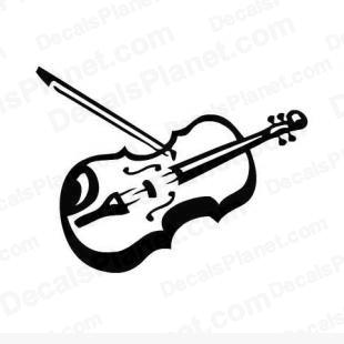 Violin fiddle instrument  listed in music and bands decals.