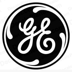 GE (General Electric) logo listed in food and home decals.