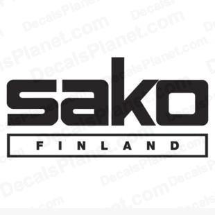 Sako Finland logo listed in firearm companies decals.