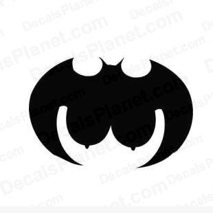 Batgirl cartoon listed in funny decals.
