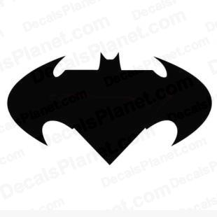 Batman logo listed in cartoons decals.