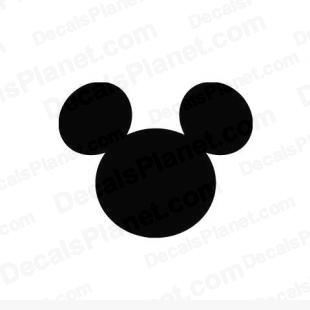 Mickey Mouse simple  listed in cartoons decals.