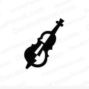 Double bass instrument listed in music and bands decals.