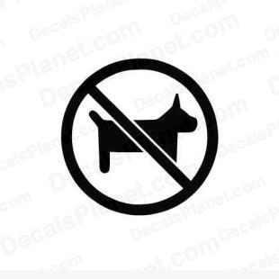 No dogs allowed logo listed in useful signs decals.