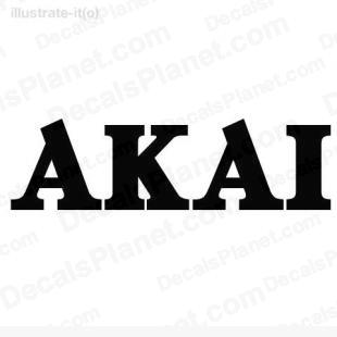 Akai listed in computer decals.