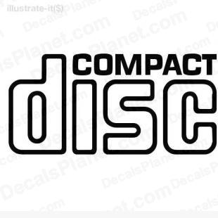 Compact disc listed in computer decals.