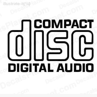Compact disc digital audio listed in computer decals.