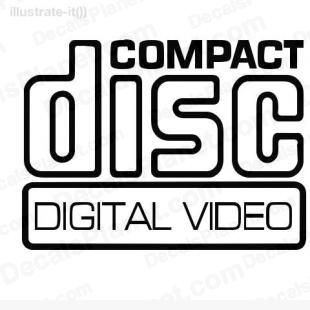 Compact disc digital video listed in computer decals.