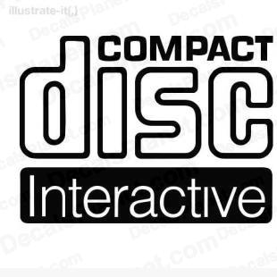 Compact disc Interactive listed in computer decals.