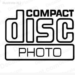 Compact disc photo listed in computer decals.