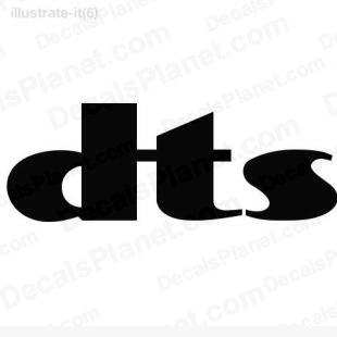 Dts logo listed in computer decals.