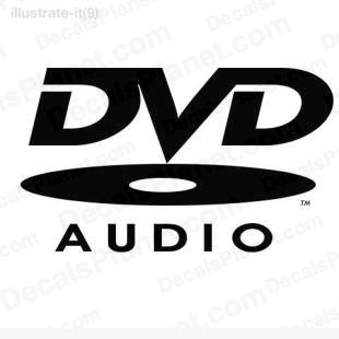 DVD audio listed in computer decals.