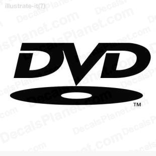 DVD listed in computer decals.