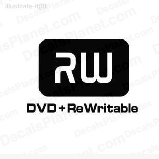 DVD-RW ReWritable listed in computer decals.