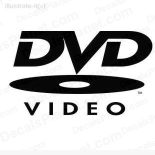 DVD video listed in computer decals.