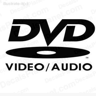 DVD video audio listed in computer decals.