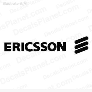 Ericsson logo listed in computer decals.